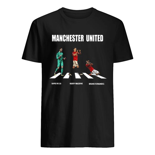 Manchester United Player abbey Road David Degea Bruno Fernandes  Classic Men's T-shirt