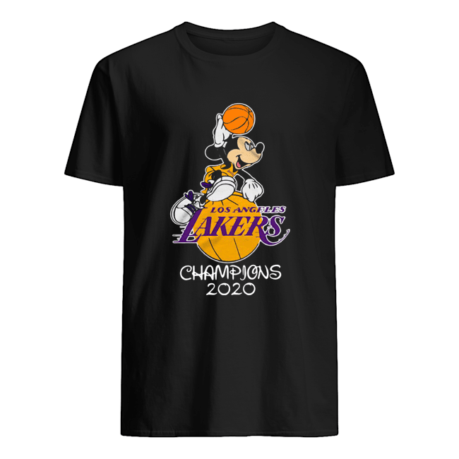 Mickey Mouse Los Angeles Lakers Champions 2020  Classic Men's T-shirt