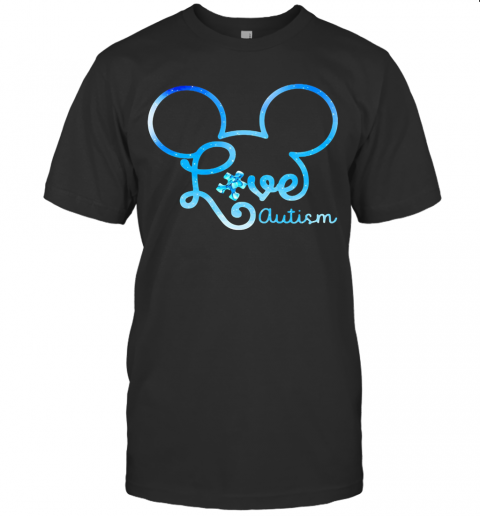 Mickey Mouse Love Autism T-Shirt Classic Men's T-shirt