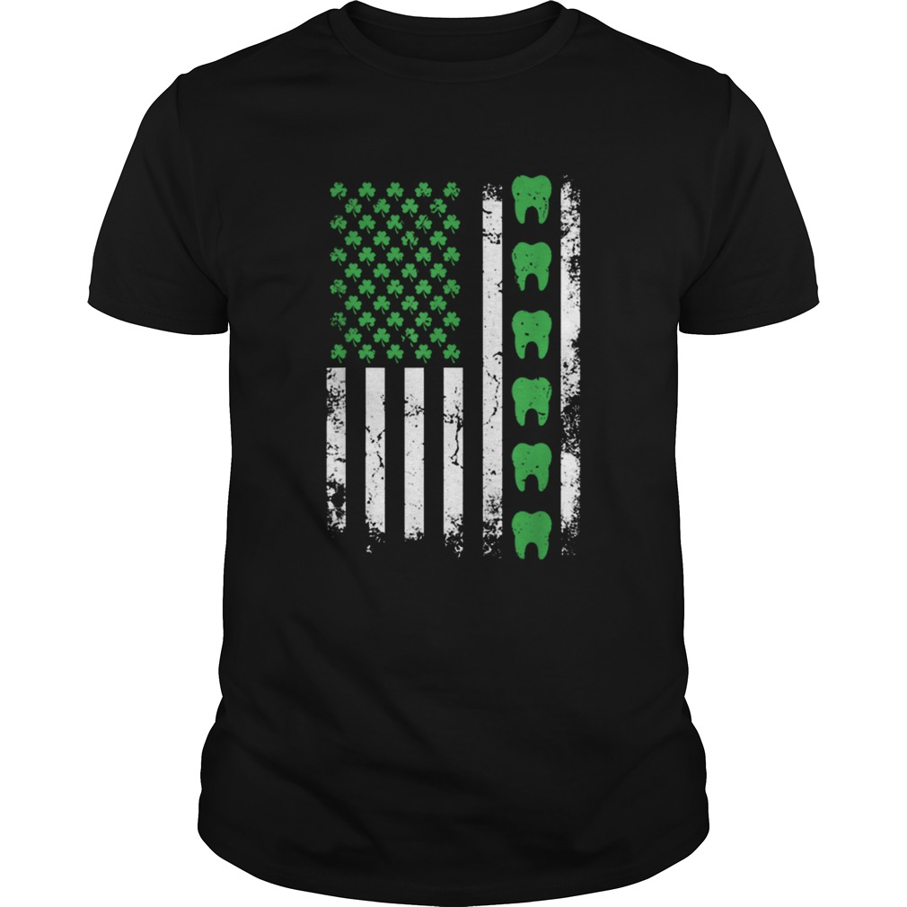 Nice Irish Dentist American Flag Us Tooth Dental St Patricks Day  Unisex