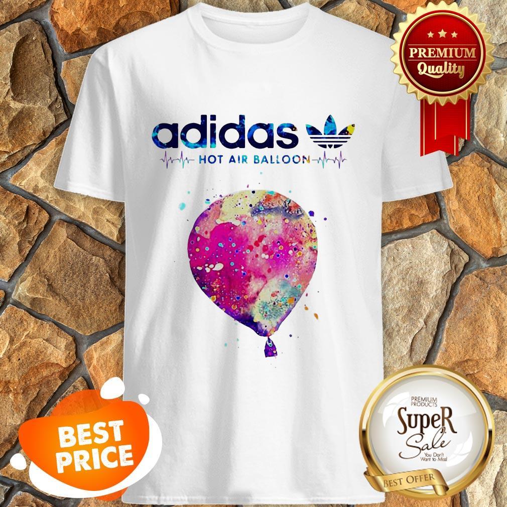 Nice Logo Adidas Hot Air Balloon Heartbeat Shirt