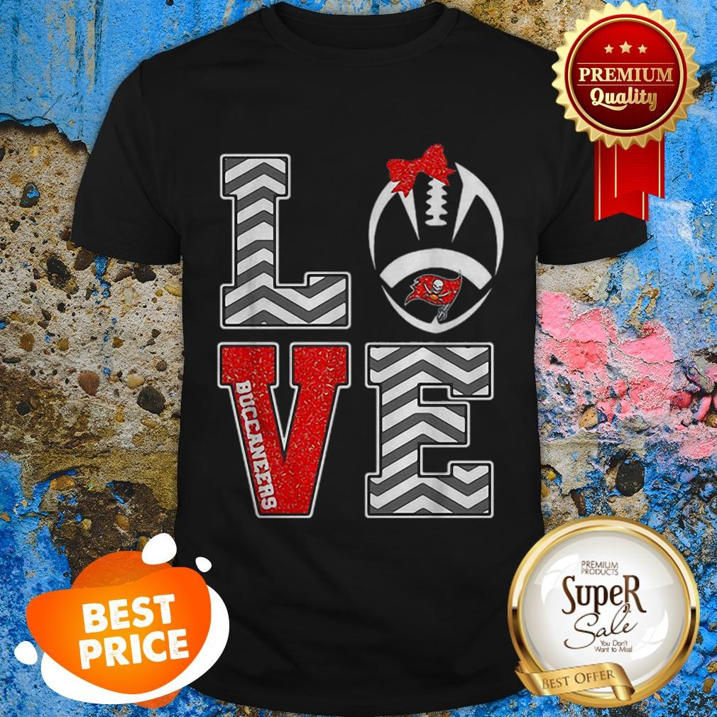 Nice Love Tampa Bay Buccaneers Logo Shirt
