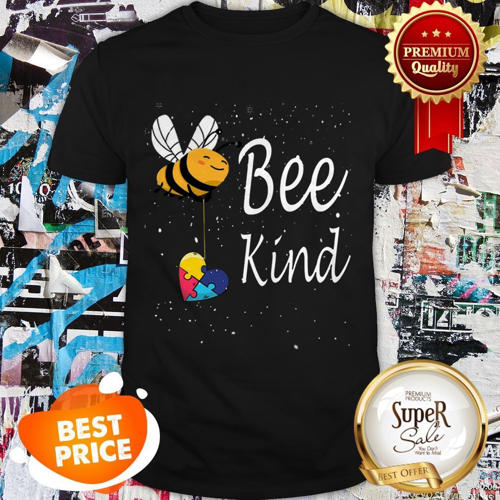 Nice Puzzle Autism Awareness Bee Kind Shirt