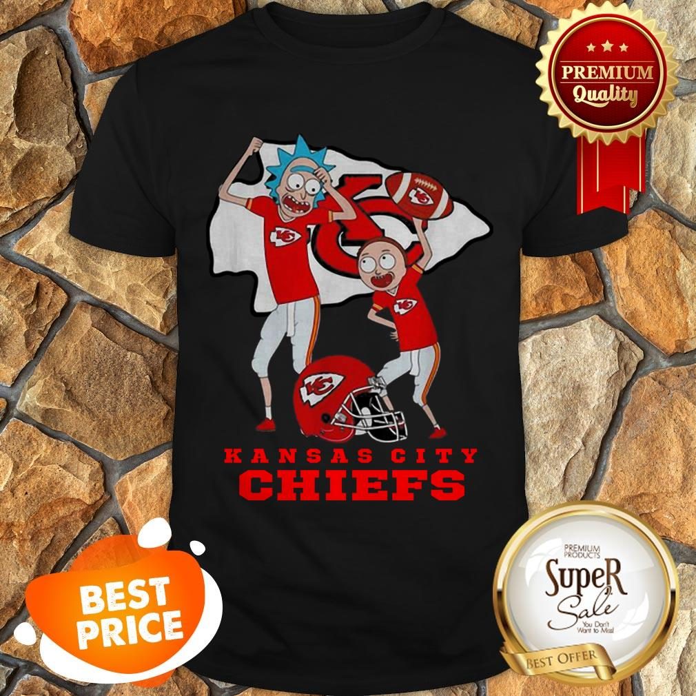 Nice Rick And Morty Mashup Kansas City Chiefs Logo Shirt