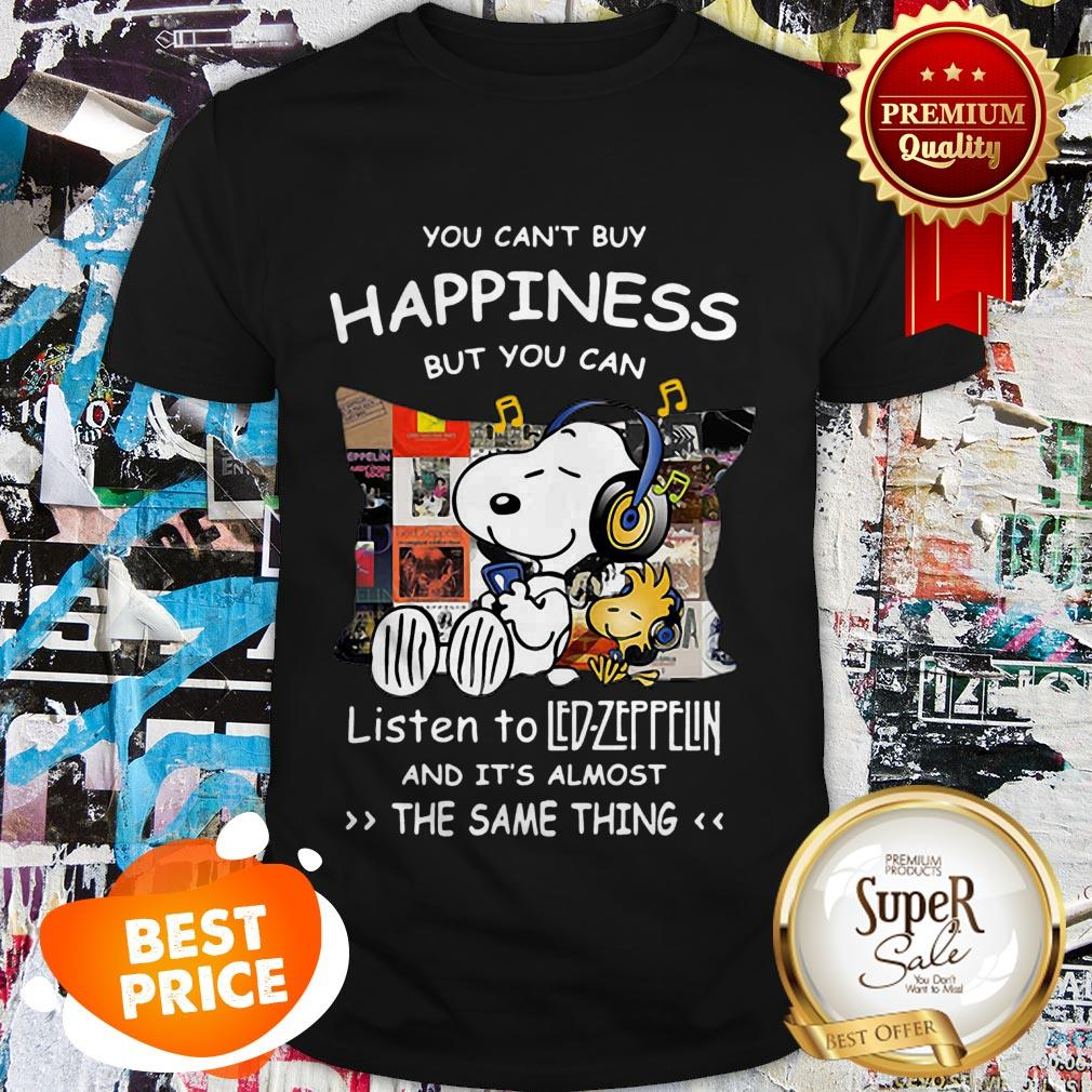 Nice Snoopy You Can't Buy Happiness But You Can Listen To Led Zeppelin Shirt