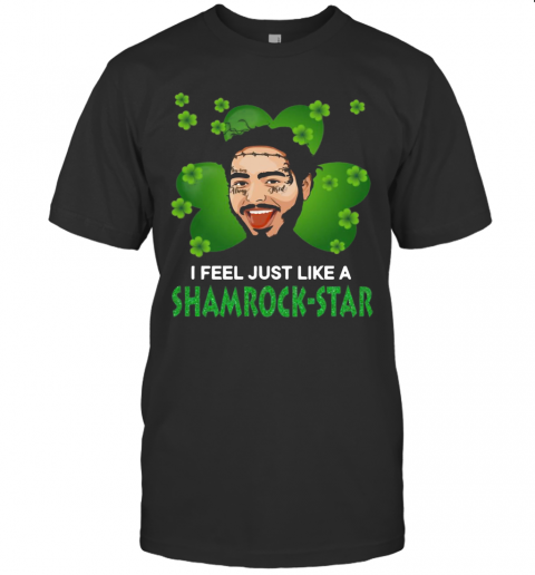 Patrick Day Post Malone I Feel Just Like A Shamrock Star T-Shirt Classic Men's T-shirt