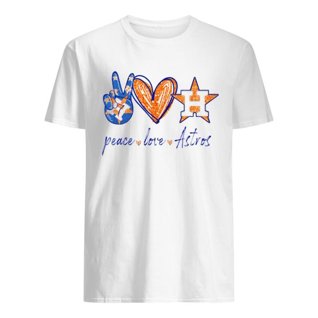 Peace Love Houston Astros  Classic Men's T-shirt