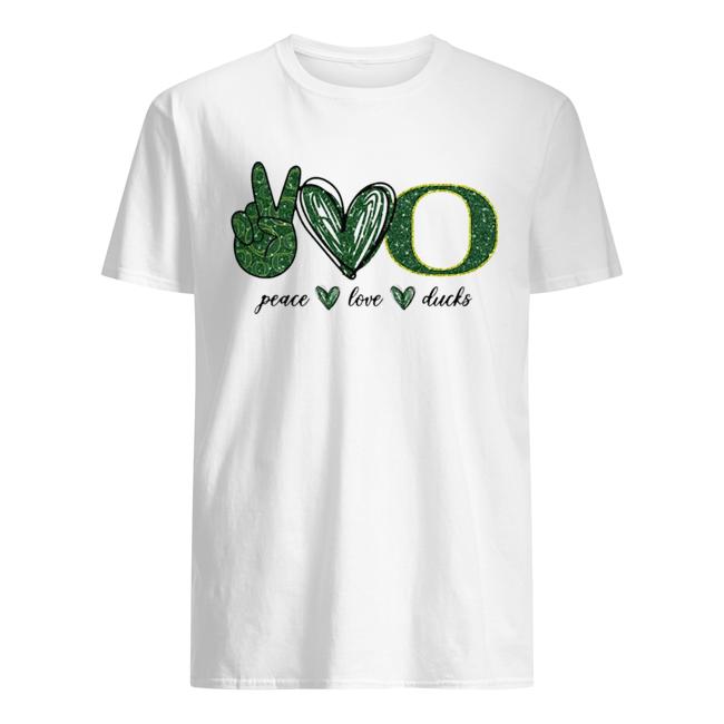 Peace Love Oregon Ducks logo  Classic Men's T-shirt