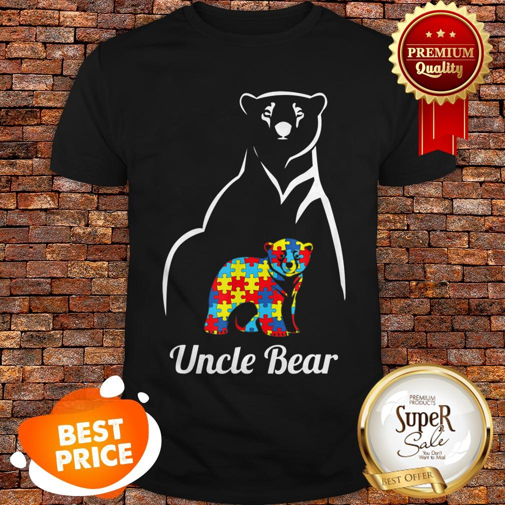 Pretty Autism Awareness Uncle Bear Gift Shirt
