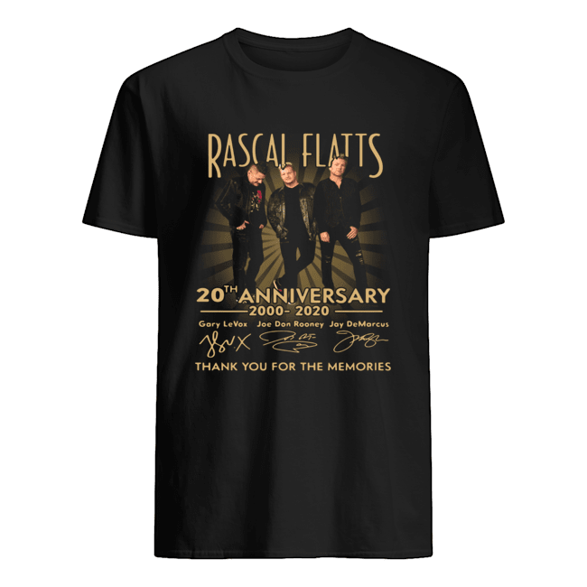 Rascal Flatts 20th Anniversary 2000 2020 Thank You For The Memories  Classic Men's T-shirt