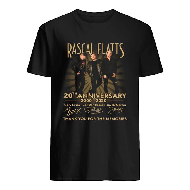 Rascal Flatts 20th Anniversary 2000 2020 Thank You For The Memories  Classic Men's T-shirt