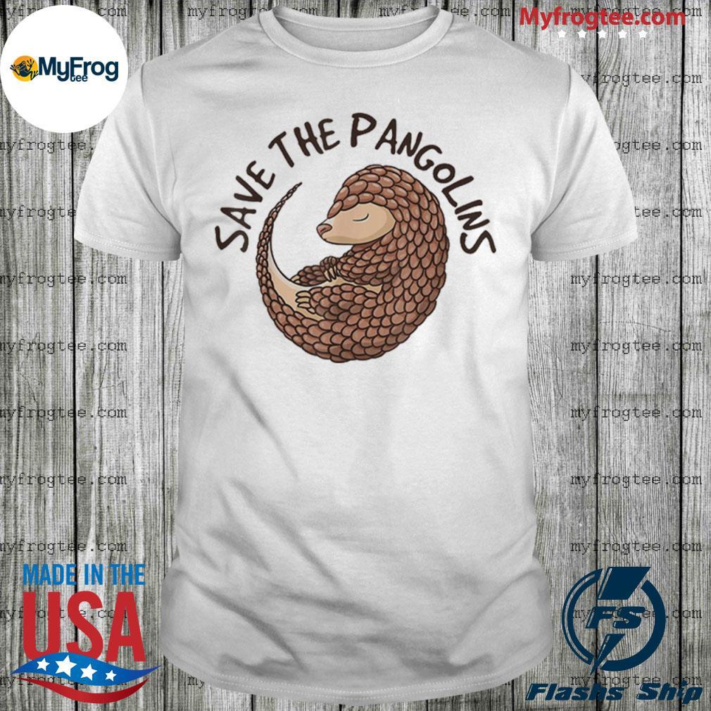 Save The Pangolins Funny Cute Animal Pangolin Shirt