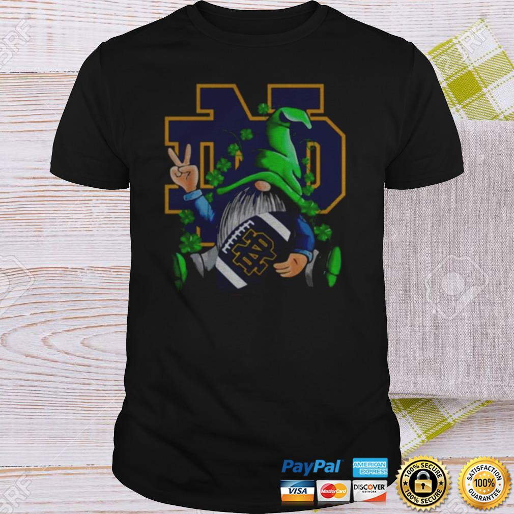Original Gnomes Hug Notre Dame Fighting Irish St Patricks Day shirt Shirt