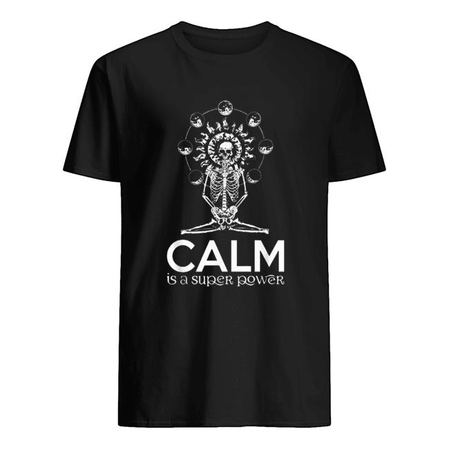 Skull yoga calm is a super power  Classic Men's T-shirt