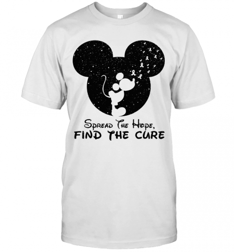 Spread The Hope Find The Cure Breast Cancer Awareness Mickey Mouse T-Shirt Classic Men's T-shirt
