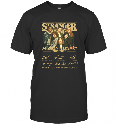 Stranger Things 4Th Anniversary 2016 2020 Thank You For The Memories T-Shirt Classic Men's T-shirt
