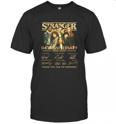 Stranger Things 4Th Anniversary 2016 2020 Thank You For The Memories T-Shirt Classic Men's T-shirt