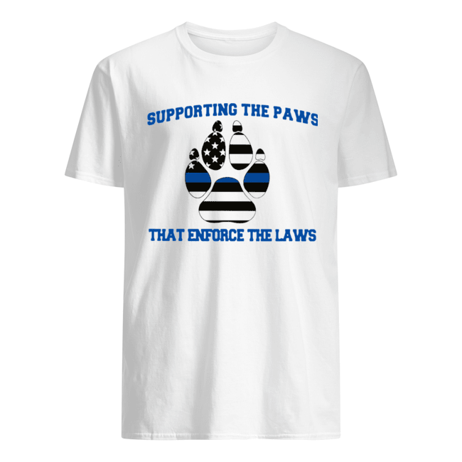 Supporting The Paws That Enforce The Laws  Classic Men's T-shirt