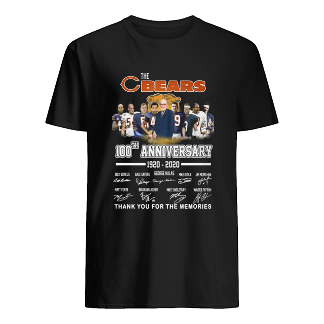 The Chicago Bears 100th Anniversary 1920 2020 Thank You For The Memories  Classic Men's T-shirt