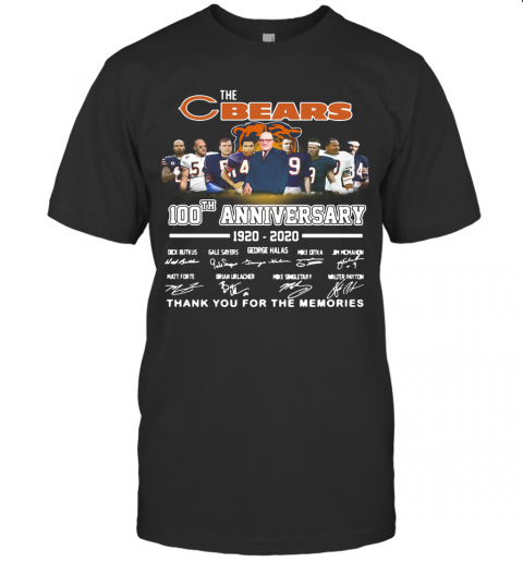 The Chicago Bears 100Th Anniversary 1920 2020 Thank You For The Memories T-Shirt Classic Men's T-shirt
