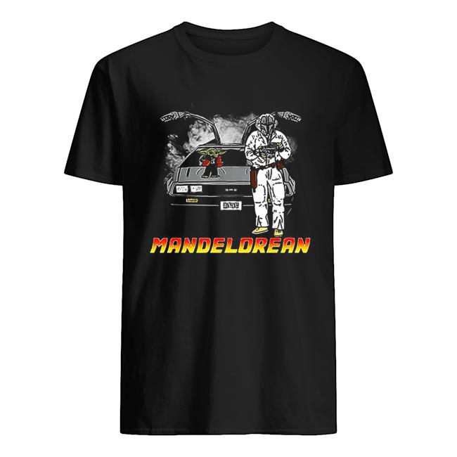 The Mandalorian and Baby Yoda Mandelorean DMC DeLorean  Classic Men's T-shirt