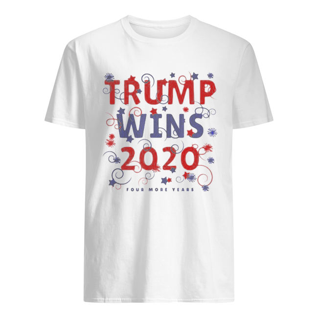 Trump Wins 2020 Four more years  Classic Men's T-shirt