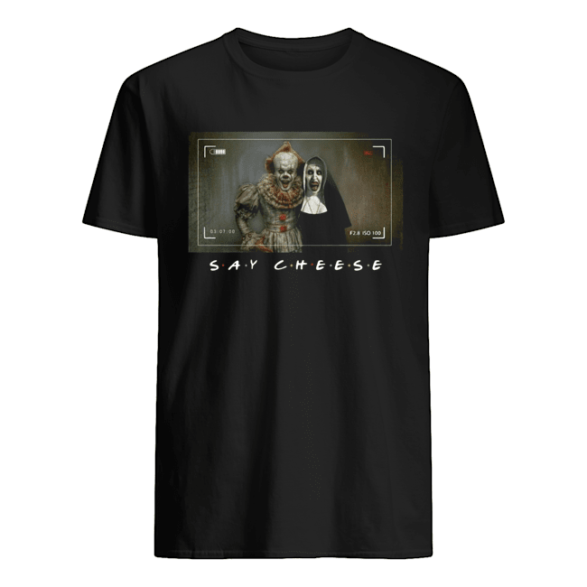 Valak And Pennywise Photo Say Cheese Friends Tv Show  Classic Men's T-shirt