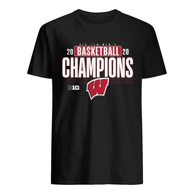 Wisconsin Badgers 2020 Big Ten Men's Basketball Champions  Classic Men's T-shirt