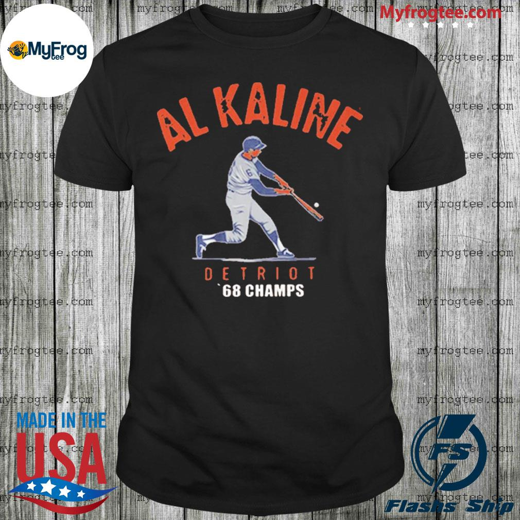 AL Kaline 1968 world champs detroit tigers shirt