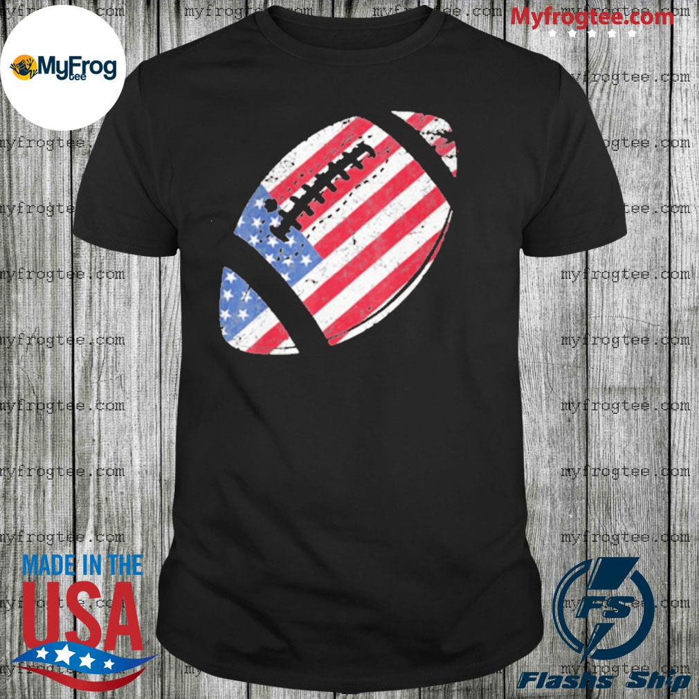 American Football 4th July American Flag Patriotic Shirt