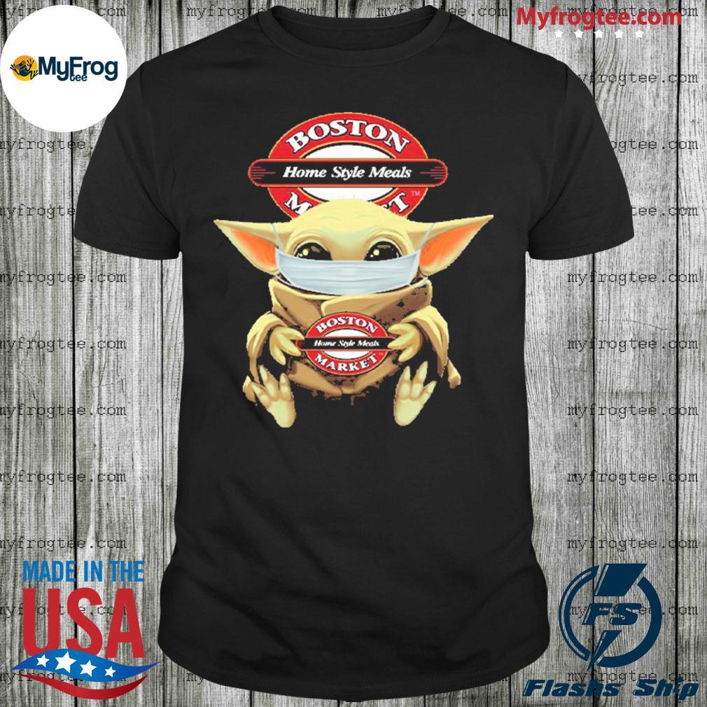 Baby Yoda Face Mask Boston Market Shirt