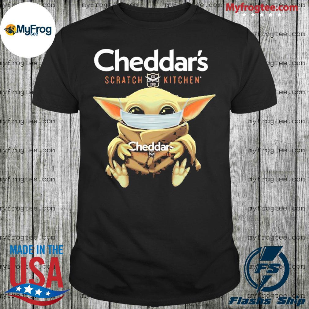 Baby Yoda Face Mask Cheddar's Scratch Kitchen Shirt