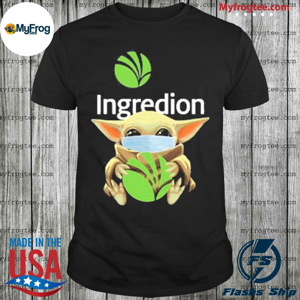 Baby yoda face mask hug Ingredion shirt
