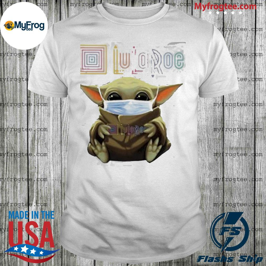 Baby yoda face mask hug lularoe shirt