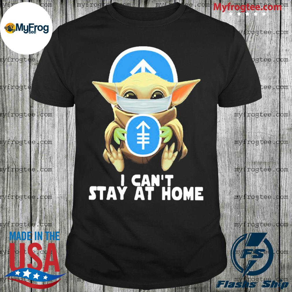 Baby Yoda face mask hug Memorial Sloan Kettering Cancer Center I can't stay at home shirt