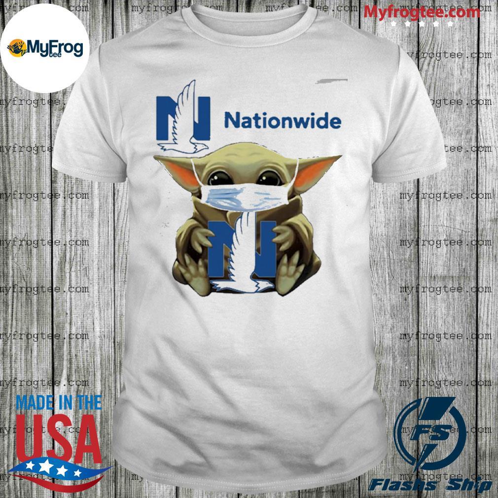 Baby yoda face mask hug nationwide shirt