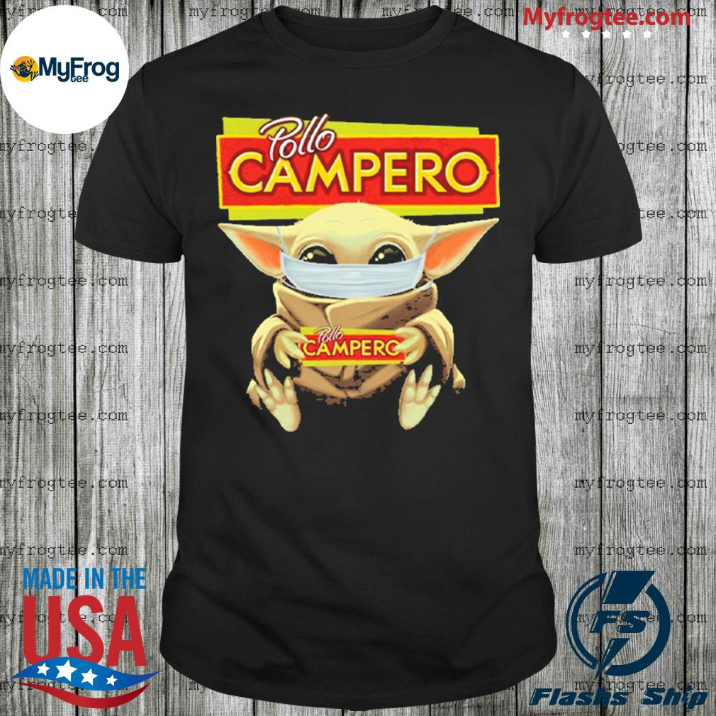 Baby Yoda Face Mask Pollo Campero Shirt