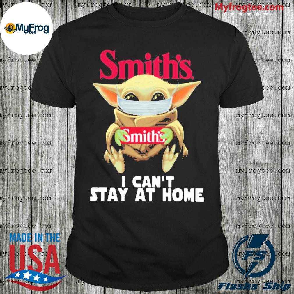 Baby yoda face mask smith's can't stay at home shirt