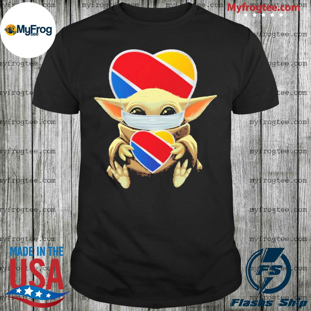 Baby Yoda Face Mask Southwest Airlines Shirt