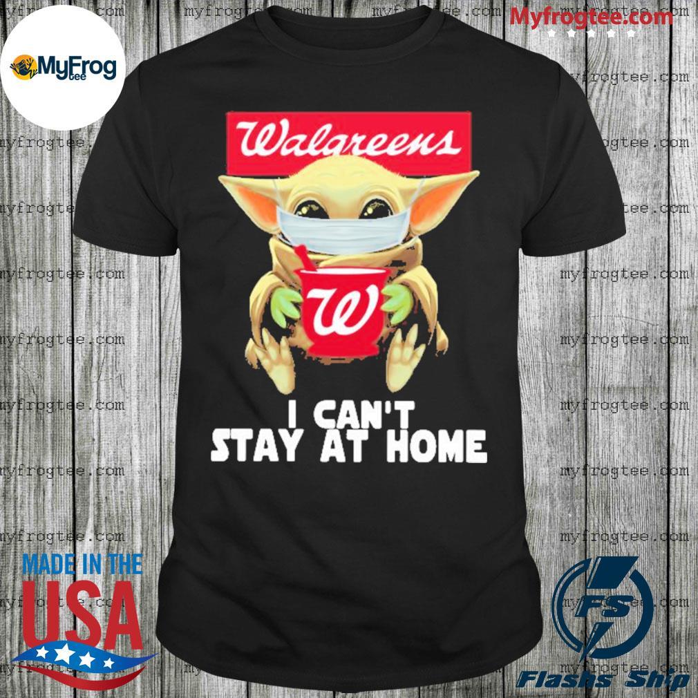 Baby Yoda face mask walgreens can't stay at home shirt