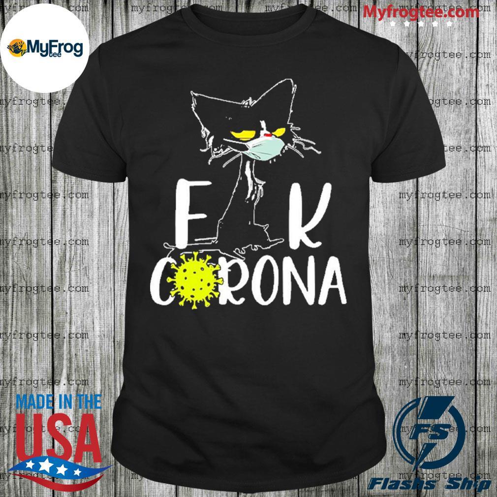 Black cat fuck corona virus 2020 shirt