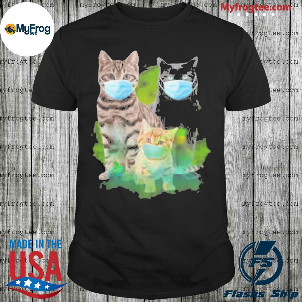 Cats Face Mask Coronavirus shirt