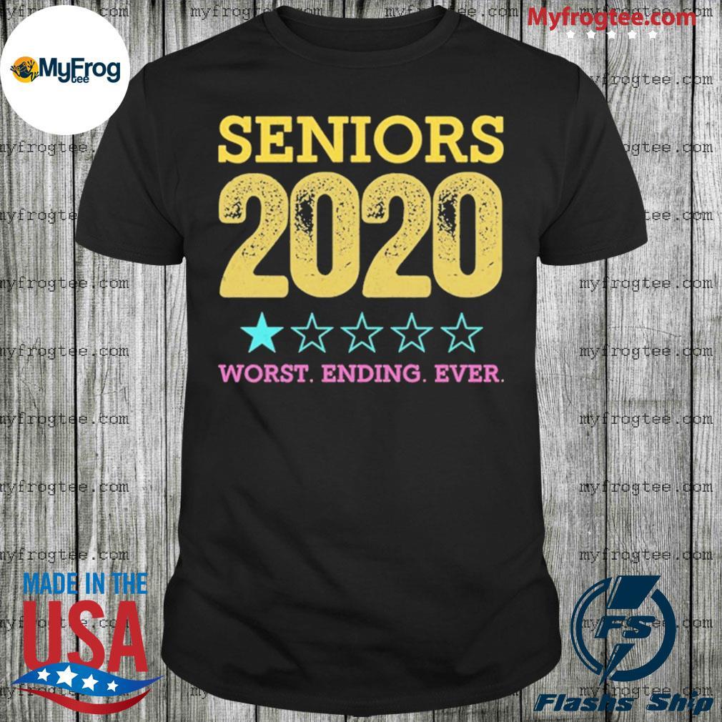 Class of 2020 graduation quarantined seniors 2020 worst ending ever shirt