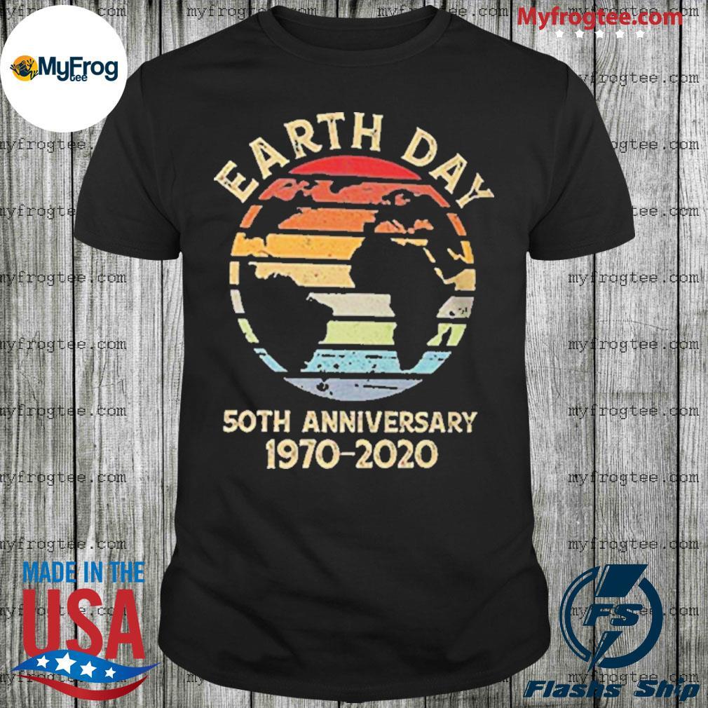 Earth day 50th anniversary 1970 retro sunset retro shirt
