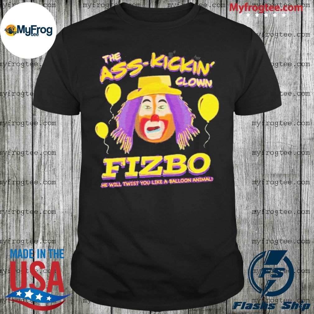 Fizbo-The-Ass-Kickin-Clown-Purple-T-Shirts