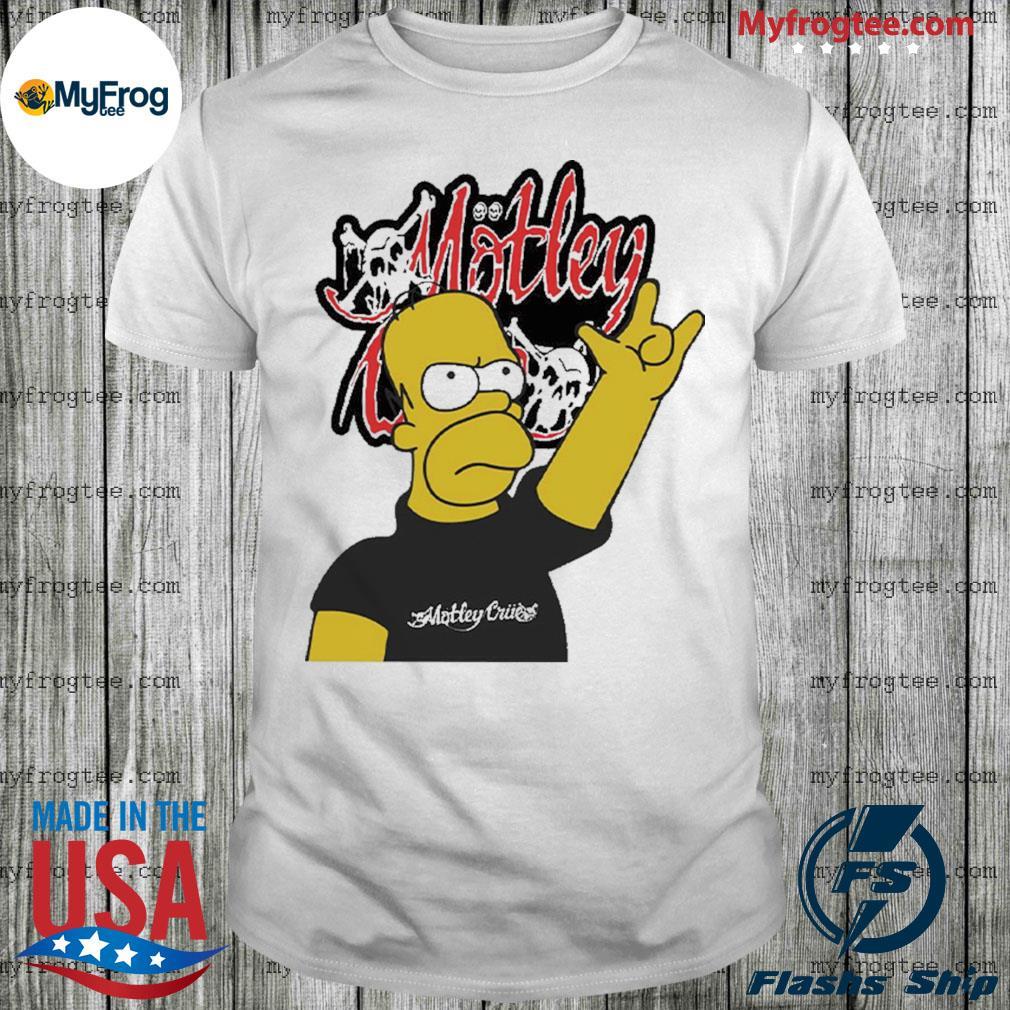 Homer Simpson Motley crue Shirt