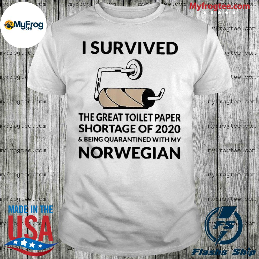 I survived the great toilet paper shortage of 2020 norwegian shirt