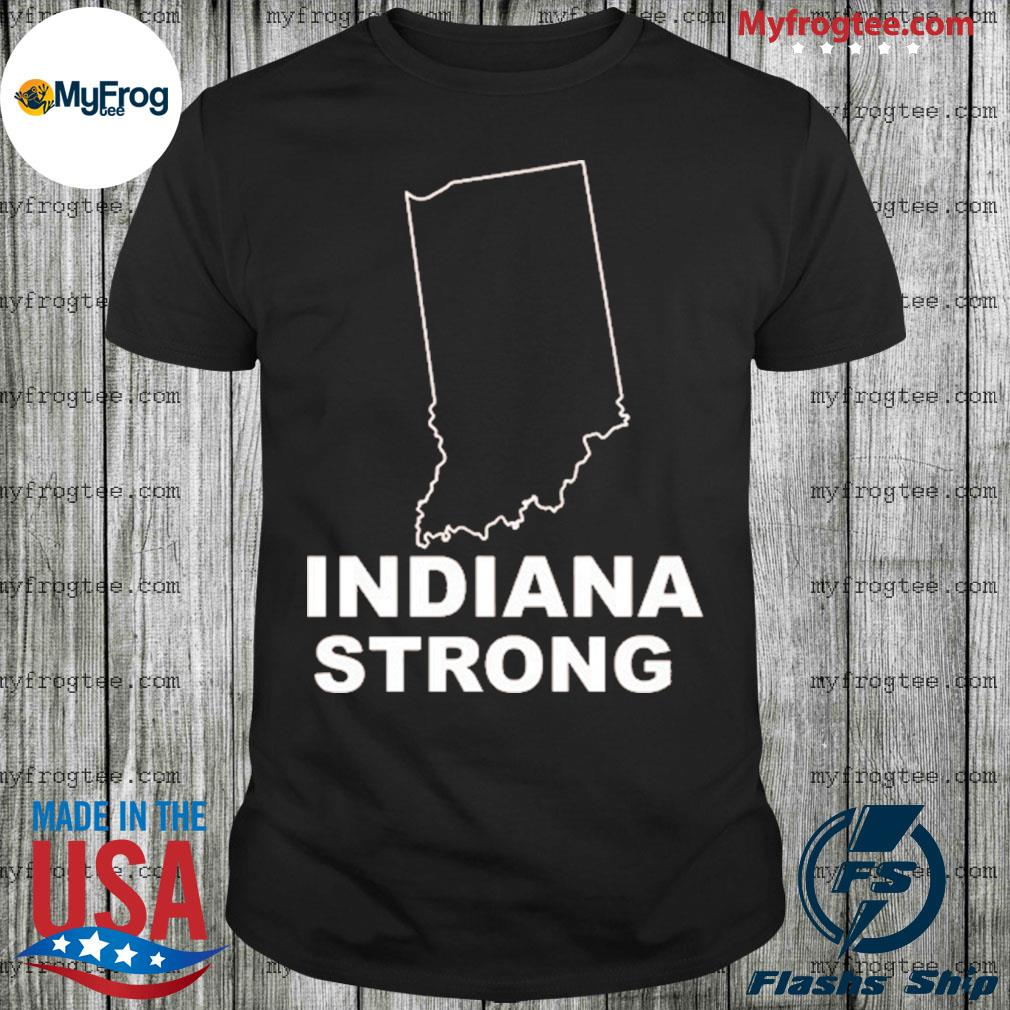 Indiana Strong Indiana State US map shirt