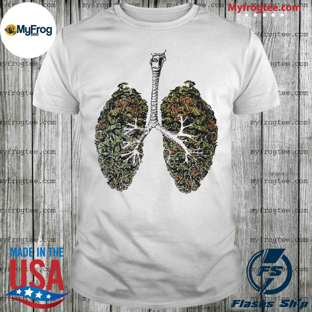 Lungs Smoker weed Shirt