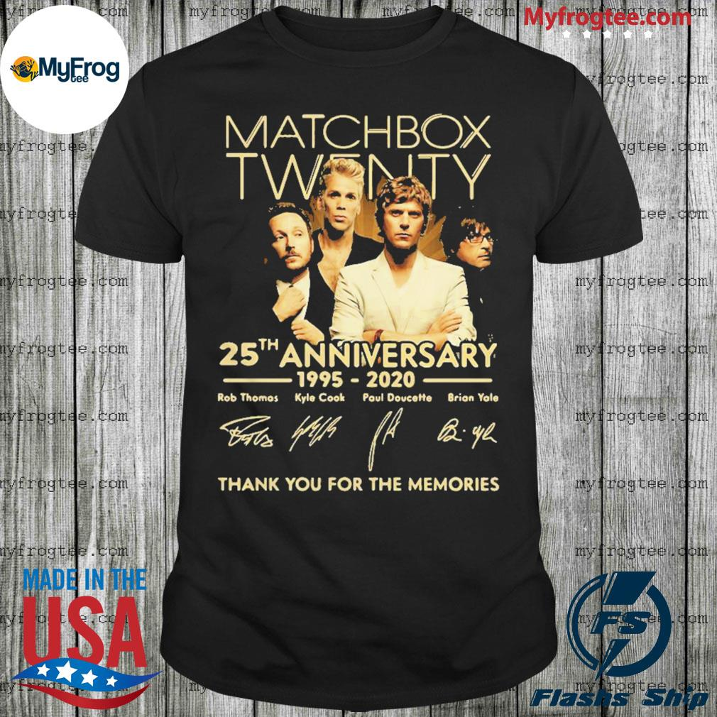 Matchbox twenty 25th anniversary 1995-2020 signatures thank you for the memories shirt